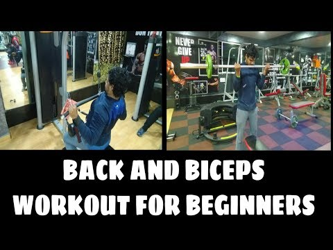 BACK and BICEP Complete Workout for Beginners  - Back and Biceps Workout for Muscle Building 💪