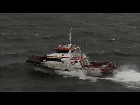 Austal Wind Express Triswath 27 - Aluminium Trimaran Wind Farm Support Vessel 'Cable Bay'