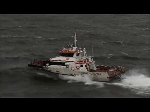 Austal Wind Express Triswath 27 - Aluminium Trimaran Wind Farm Support Vessel 'Cable Bay'