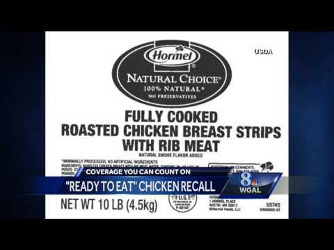 "RECALL: Over 1.9M pounds of ""ready to eat"" chicken recalled"