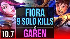 FIORA vs GAREN (TOP)   4 early solo kills, 9 solo kills   NA Diamond   v10.7