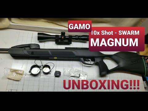 NEW! Gamo Swarm MAGNUM 10x Shot .22 cal. Air Rifle $300 - UNBOXING!!!