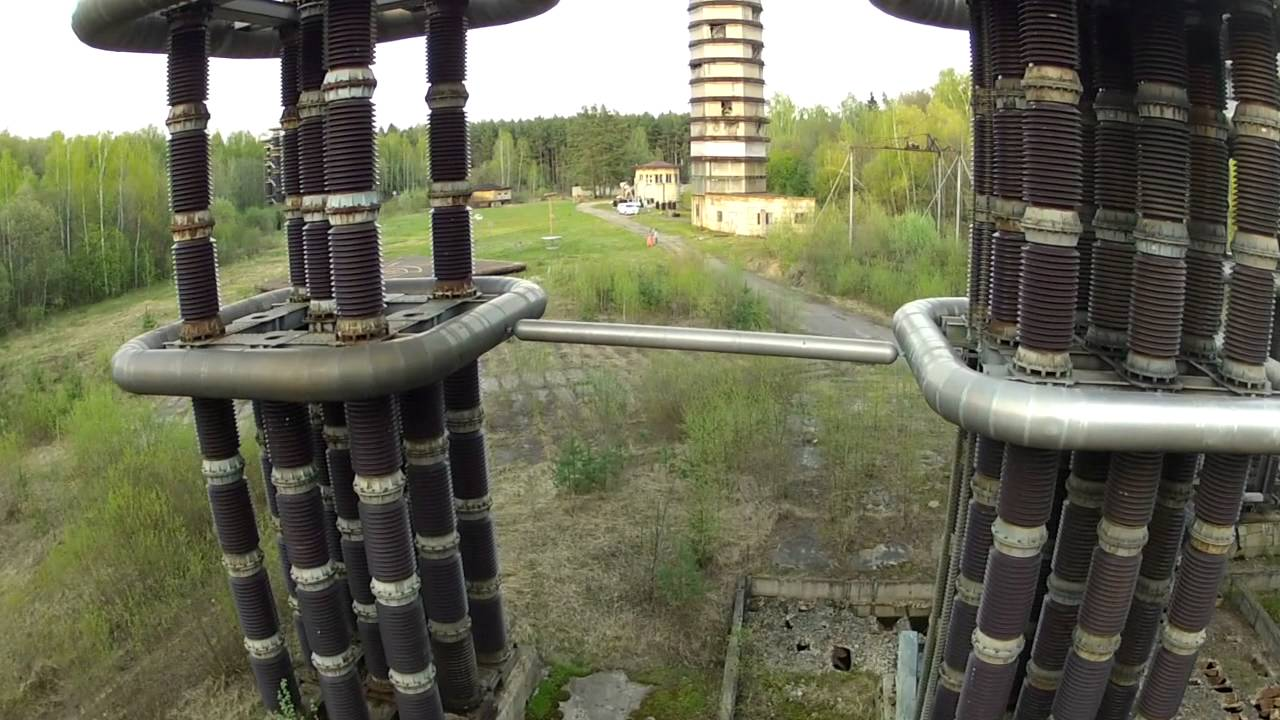 Electrifying: Giant futuristic 'Tesla Tower' in abandoned