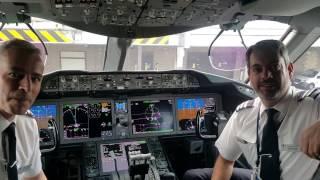ITW with British Airways Boeing 787-9 Dreamliner special flight pilots
