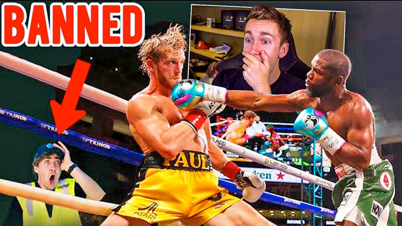 MINIMINTER REACTS TO SNEAKING INTO LOGAN PAUL vs FLOYD MAYWEATHER FIGHT!