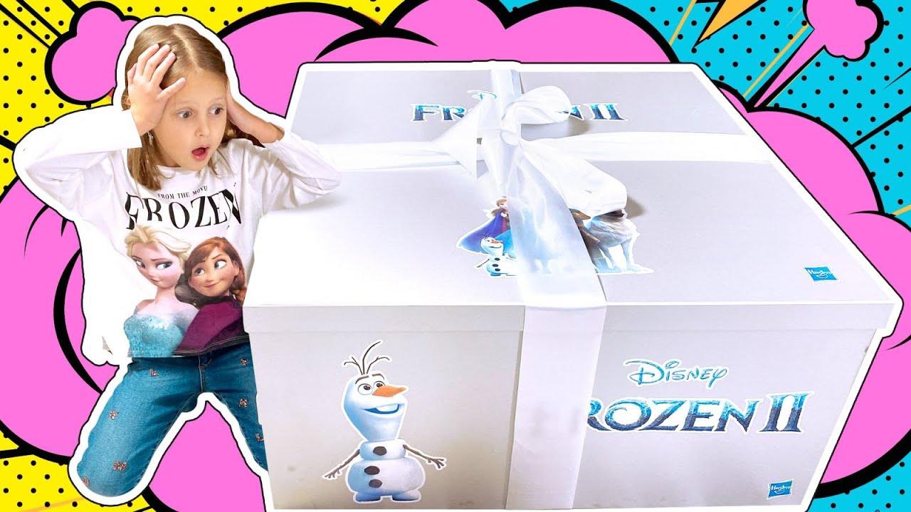Необычный Огромный Подарок для Амельки! Ледяной Домик Frozen! Как его разморозить?