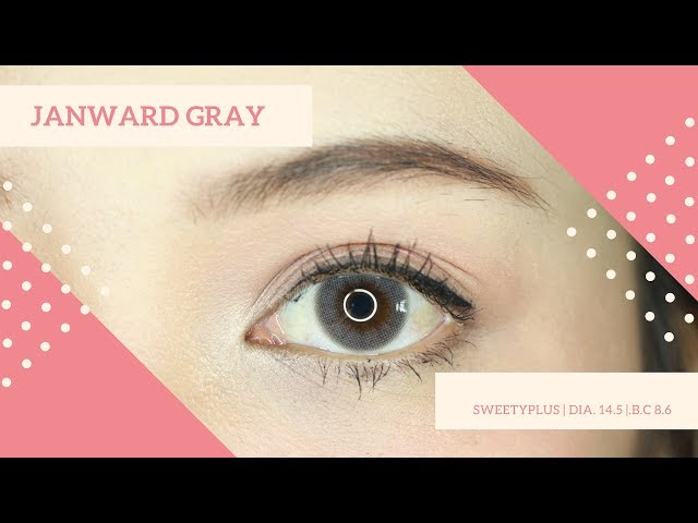 REVIEW CONTACTLENS : JANWARD GRAY - SWEETYPLUS