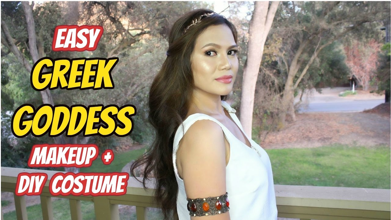 Easy GREEK GODDESS Makeup DIY Costume Halloween YouTube - Diy greek hairstyle