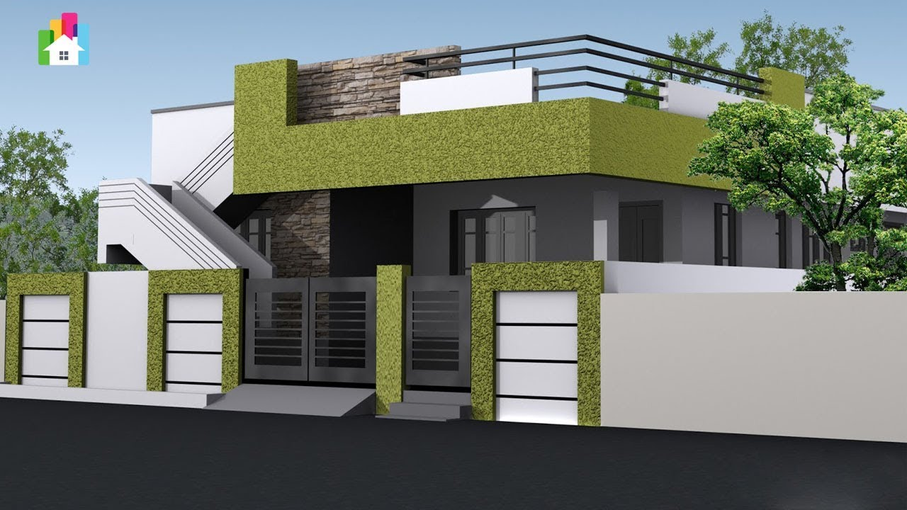 Single Floor Front Elevations 2019 Top Modern Small Home