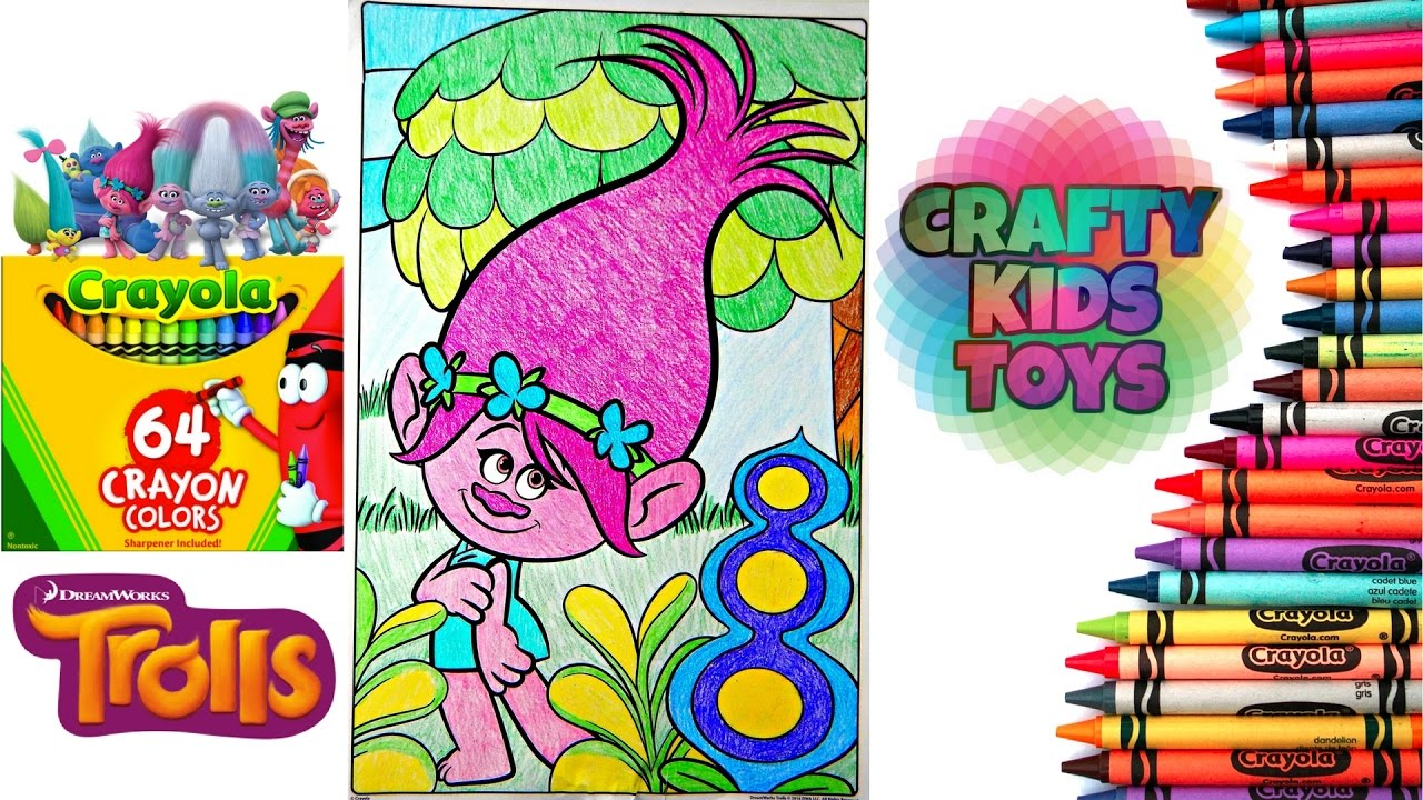 trolls crayola giant coloring pages coloring poppy from