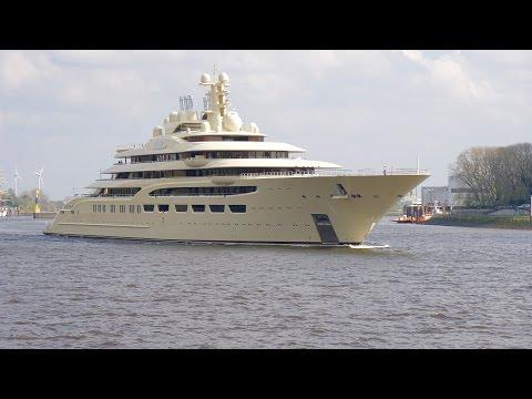 4K - Mega Yacht Project OMAR - DILBAR - Port Sea Trail - Sony A6300
