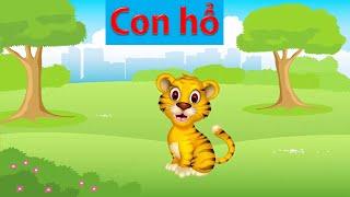 Tiếng kêu của động vật   dạy em bé học đọc và nói con vật bằng tiếng việt   dạy trẻ thông minh sớm 3