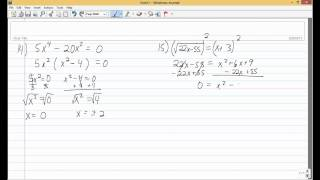 College Algebra Test 2 Review
