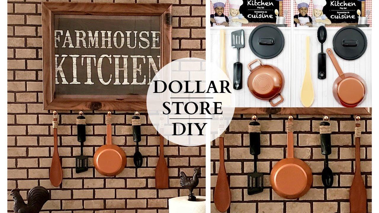Dollar Store Diy Farmhouse Kitchen Decor Inspired By Toys Youtube