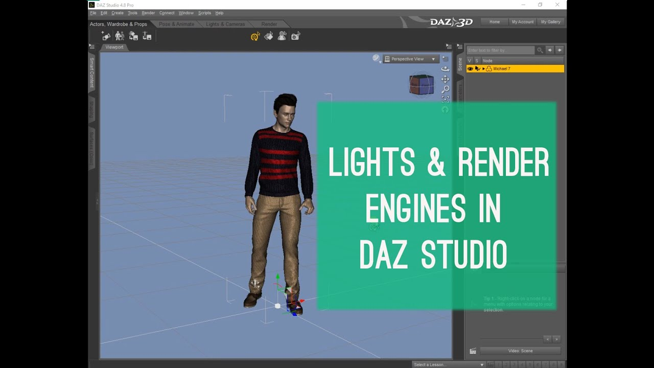 Daz Studio Lights & Render Engine Tutorial