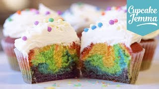 How to make Rainbow Cupcakes | Cupcake Jemma