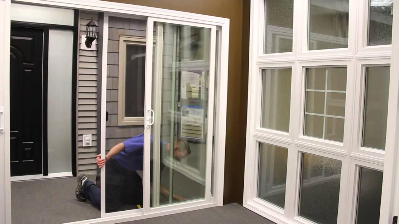 install a patio door screen