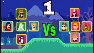 Bowmasters - Gameplay Walkthrough Part 1 - 7 New Characters - The Best (iOS) (Android)