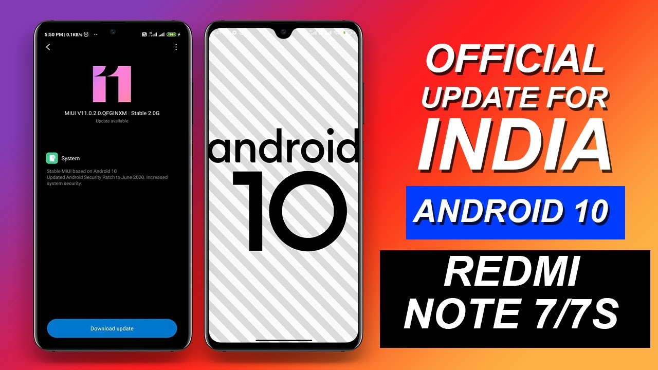 Redmi Note 7/7S Official Android 10 Update For India   MIUI V11.0.2.0 Public Update Rolling Out