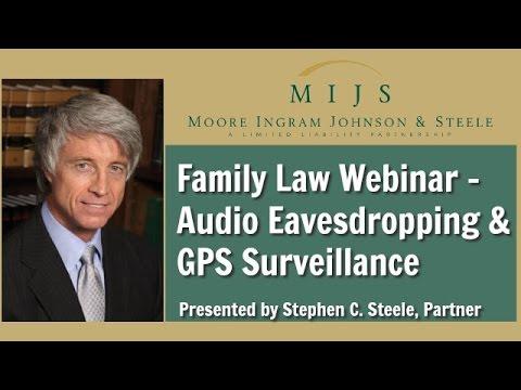 MIJS Family Law Webinar: Audio Eavesdropping & GPS Surveillance