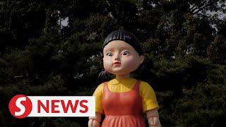'SquidGame' doll at Seoul park draws fans