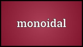 Monoidal Meaning