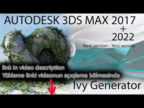 İvy Generator + Textures For 3Ds Max 2010-2018 (Download And Install - Yüklə Və Quraşdır)