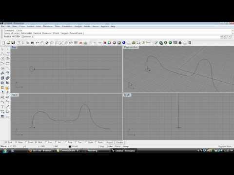 How to Create a Tube in Rhino 3d.