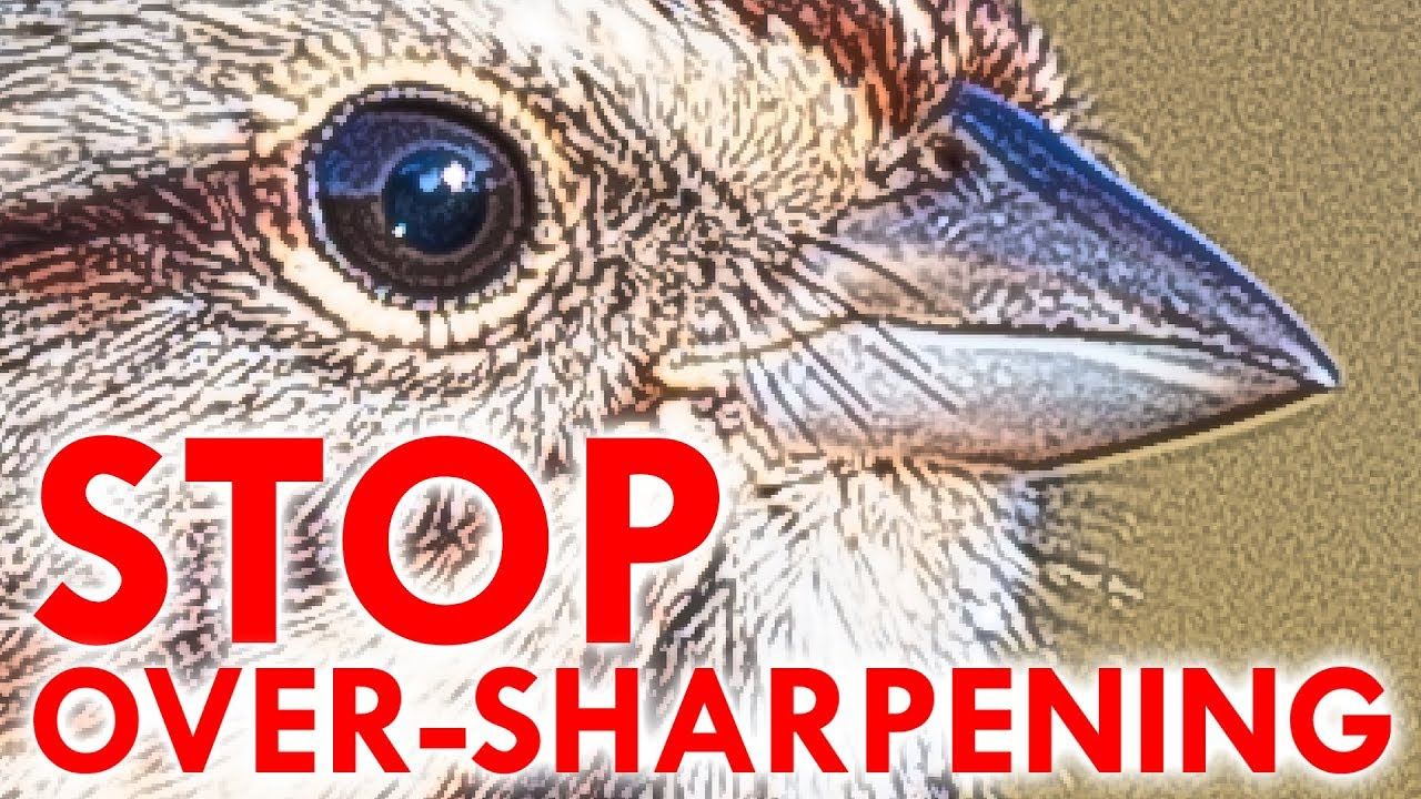 STOP OVER-SHARPENING - YouTube