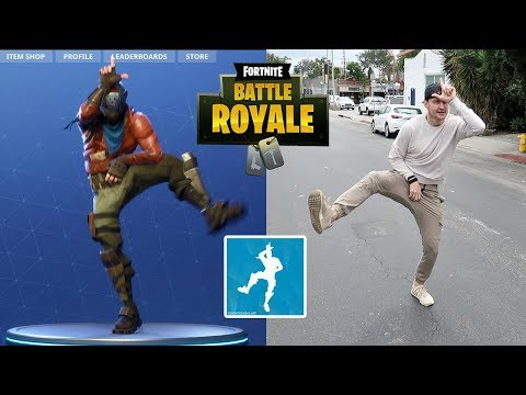 FORTNITE DANCES IN PUBLIC!! (1 KILL = 1 DARE FORTNITE BATTLE ROYALE ft. WOLFIE)