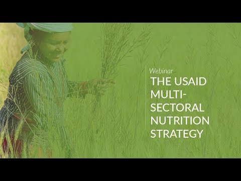 Webinar: The USAID Multi-Sectoral Nutrition Strategy
