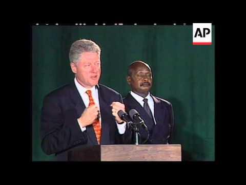 RWANDA/UGANDA: US PRESIDENT CLINTON VISIT UPDATE (2)