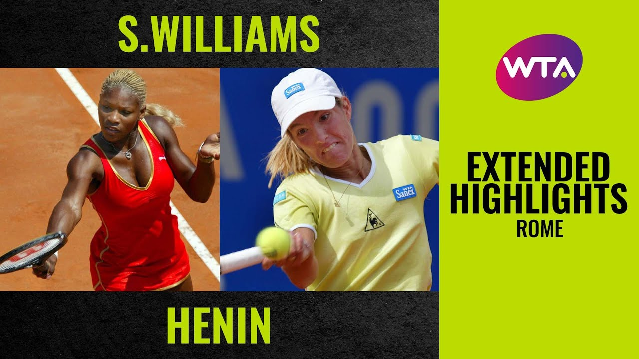 Serena Williams vs. Justine Henin | Extended Highlights | Final Set | 2002 Rome Final