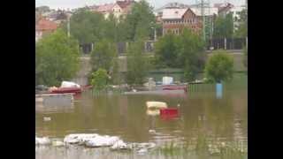6  června 2013 Povodně Děčín -  Ústecká ulice a okolí