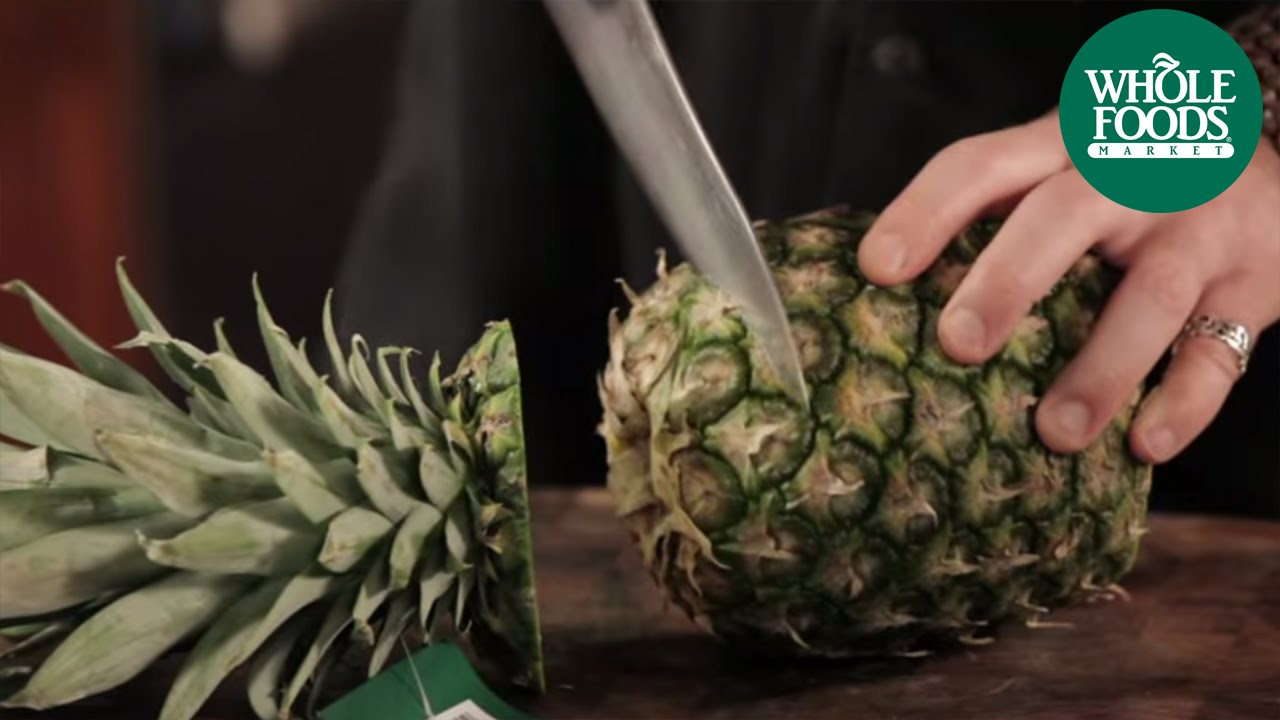 How to cut a pineapple produce whole foods market youtube ccuart Choice Image
