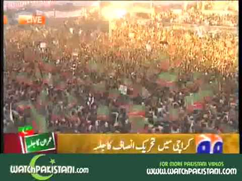Sindhi Topi and Ajrak Song at PTI Jalsa in Karachi