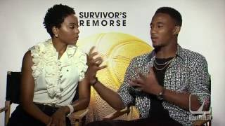 JESSIE T. USHER & ERICA ASH - Survivors Remorse  (season 3) interview