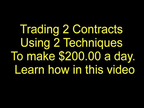 Patience, Discipline and these trading techniques makes $200.00 a day trading futures
