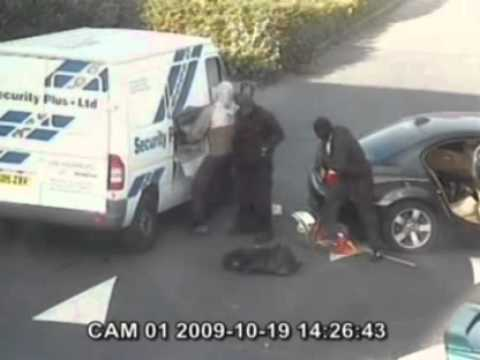 robbery gang's £750,000 haul (CCTV VIDEO)