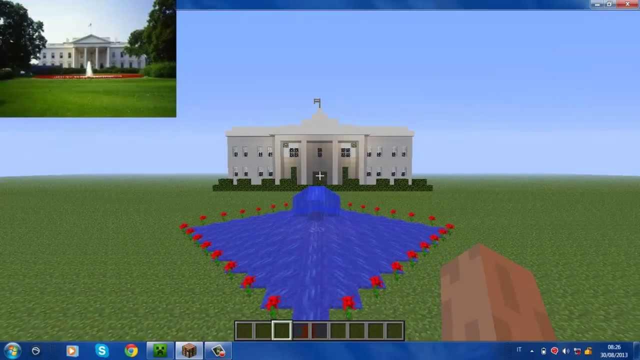 La casa bianca in minecraft youtube for Piccoli progetti di casa di minecraft