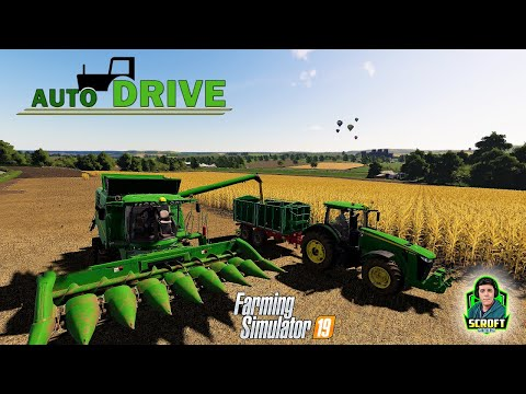 Unload Combine Feature | How To Use AutoDrive Part 5 - FS19