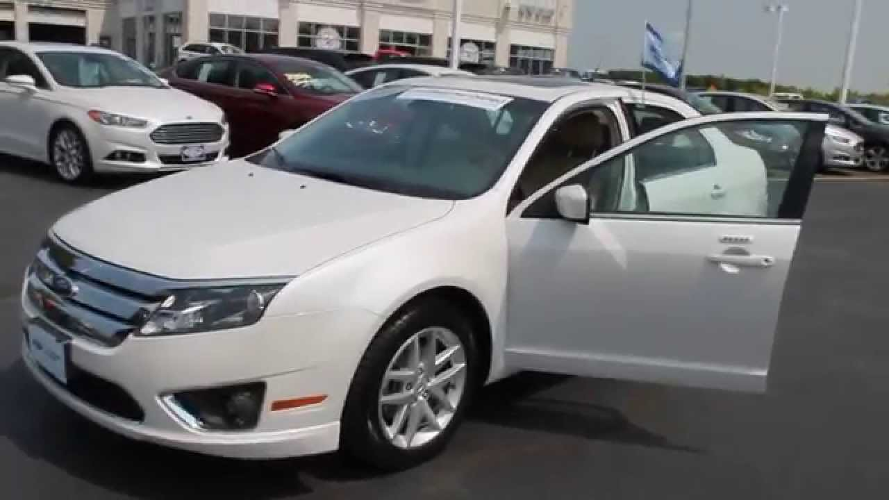 2012 Ford Fusion Sel White Platinum Metallic Tri Coat Youtube