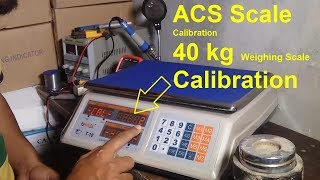 30 kg Weight Machine Calibration | Electronic weighing machine Calibration in hindi