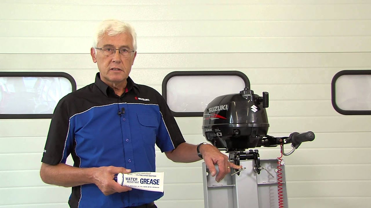 Top tips - lubrication for your outboard (Suzuki portable outboards)
