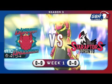 """Scolipede Causing Nerves"" | GBA D-League S3W1 | Durham Druddigons VS Toronto Staraptors"