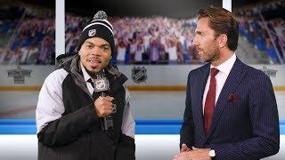 Lazlo Holmes interviews Rangers goaltender Henrik Lundqvist