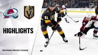 09/25/19 Condensed Game: Avalanche @ Golden Knights