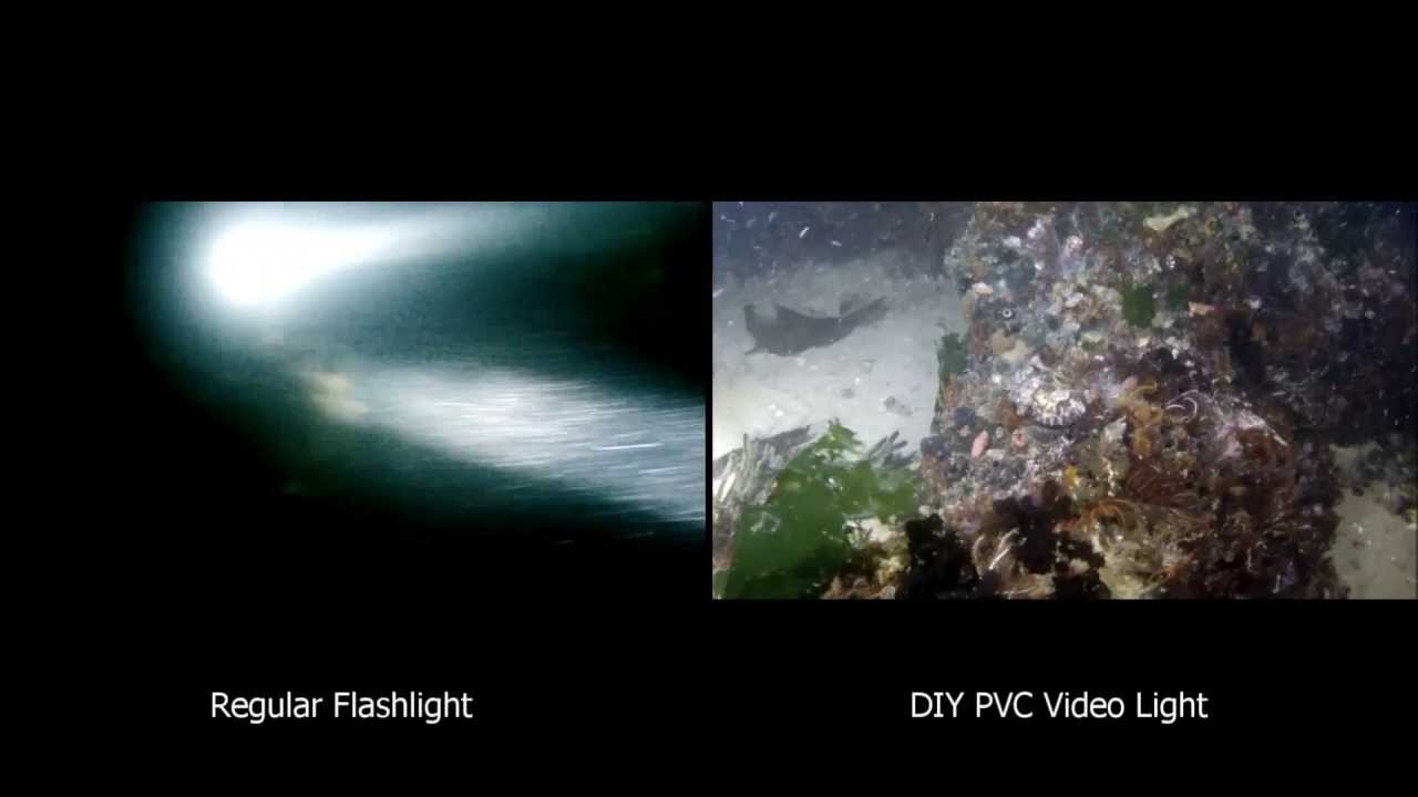 Gopro Scuba Diy Pvc Video Light Test Footage Comparison