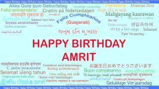 Amrit   Languages Idiomas - Happy Birthday