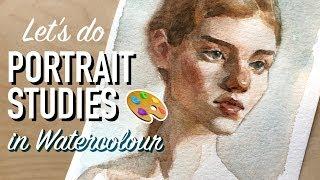 Tips on Doing Portrait Studies in Watercolour! 🎨 *Bonus Video*